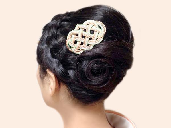 七本結びの髪飾り